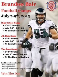 Brandon Bair Football Camp Flyer-2015